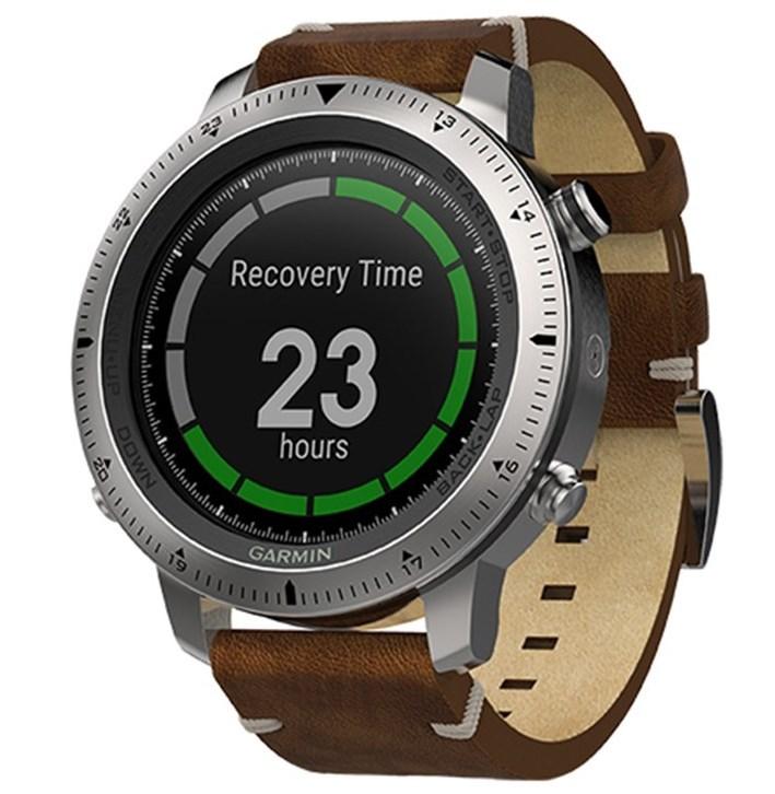Спортивные часы Garmin Fenix Chronos с кожаным браслетомм