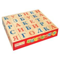 Набор деревянных кубиков с буквами