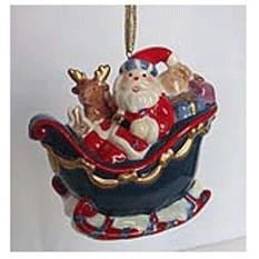 Фарфоровая музыкальная игрушка Рождественские сани
