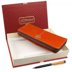 Женский подарочный набор из кошелька и ручки