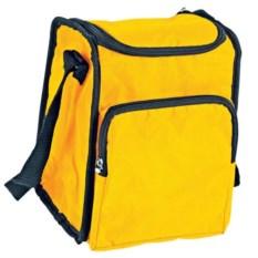 Желтая сумка-холодильник с отделением на молнии на 3,5 литра