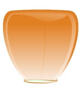 Небесный фонарик Оранжевый конус 84см
