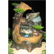 Настольный фонтан с подсветкой Кувшин на дереве