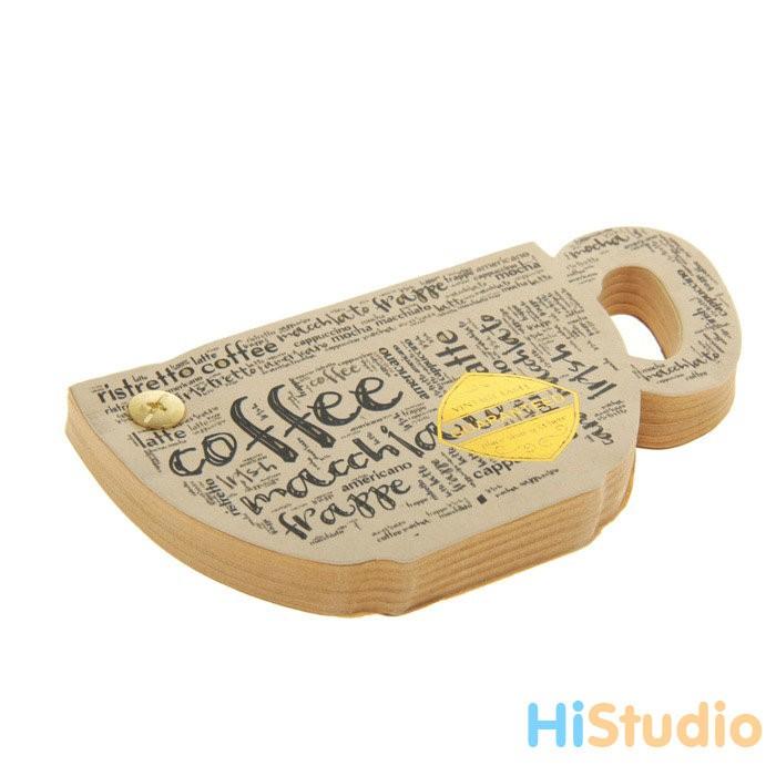Блок для записей на кнопке Чашка кофе