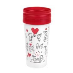 Термокружка с крышкой Комикс о любви