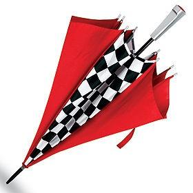 Зонт «Отличный финиш», красный