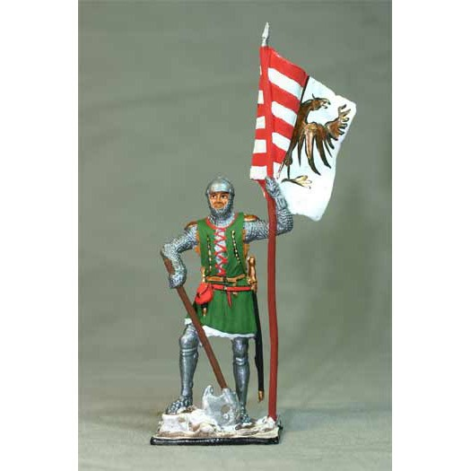 Немецкий пехотинец со знаменем, 14 век