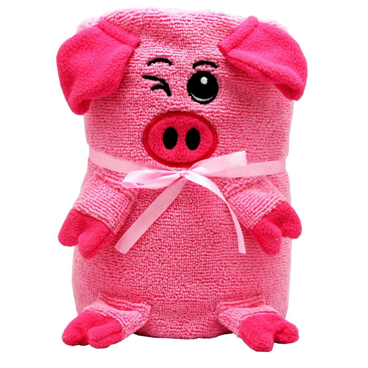 Мягкая игрушка-полотенце Розовая Свинка, 130 x180 см