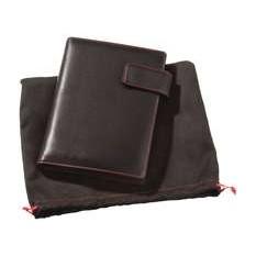 Блокнот VIAGGI, черный с красной отделкой