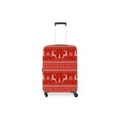 Чехол на чемодан 3D Скандинавский узор. Олени
