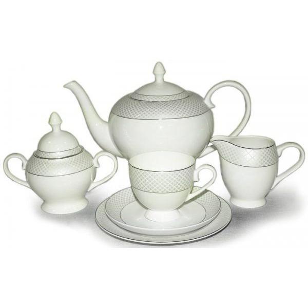 Фарфоровый чайный сервиз на 6 персон Элеганс