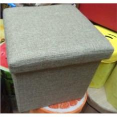 Серый складной пуф с местом для хранения