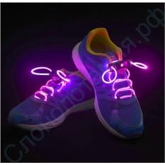 Светящиеся розовые LED шнурки