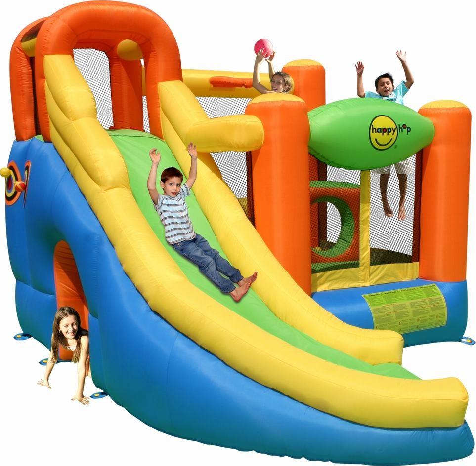 Детский надувной игровой центр 10 в 1 HAPPY HOP