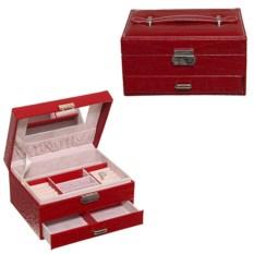 Красная шкатулка для украшений, размер 20 х 16 х 11см