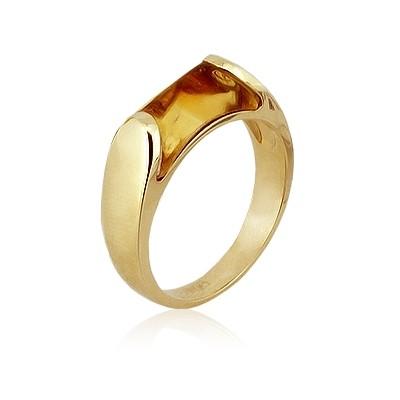 Кольцо с цитрином TTF-Luxury