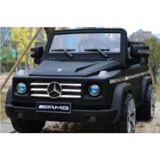 Детский чёрный матовый электромобиль Mercedes Benz G55 AMG