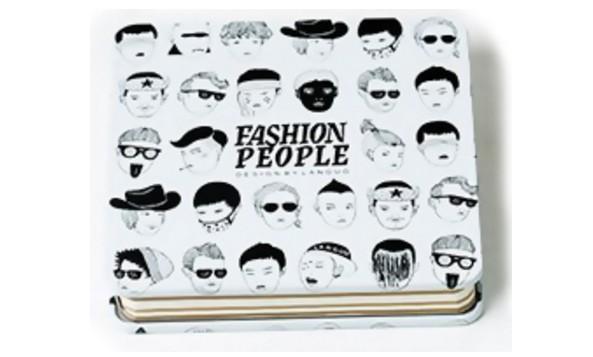 Бело-черный креативбук с жестяной обложкой Fashion People
