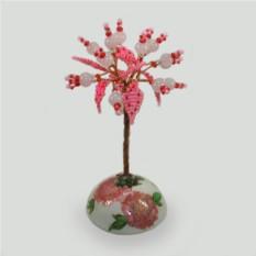 Дерево из розового кварца Любовное