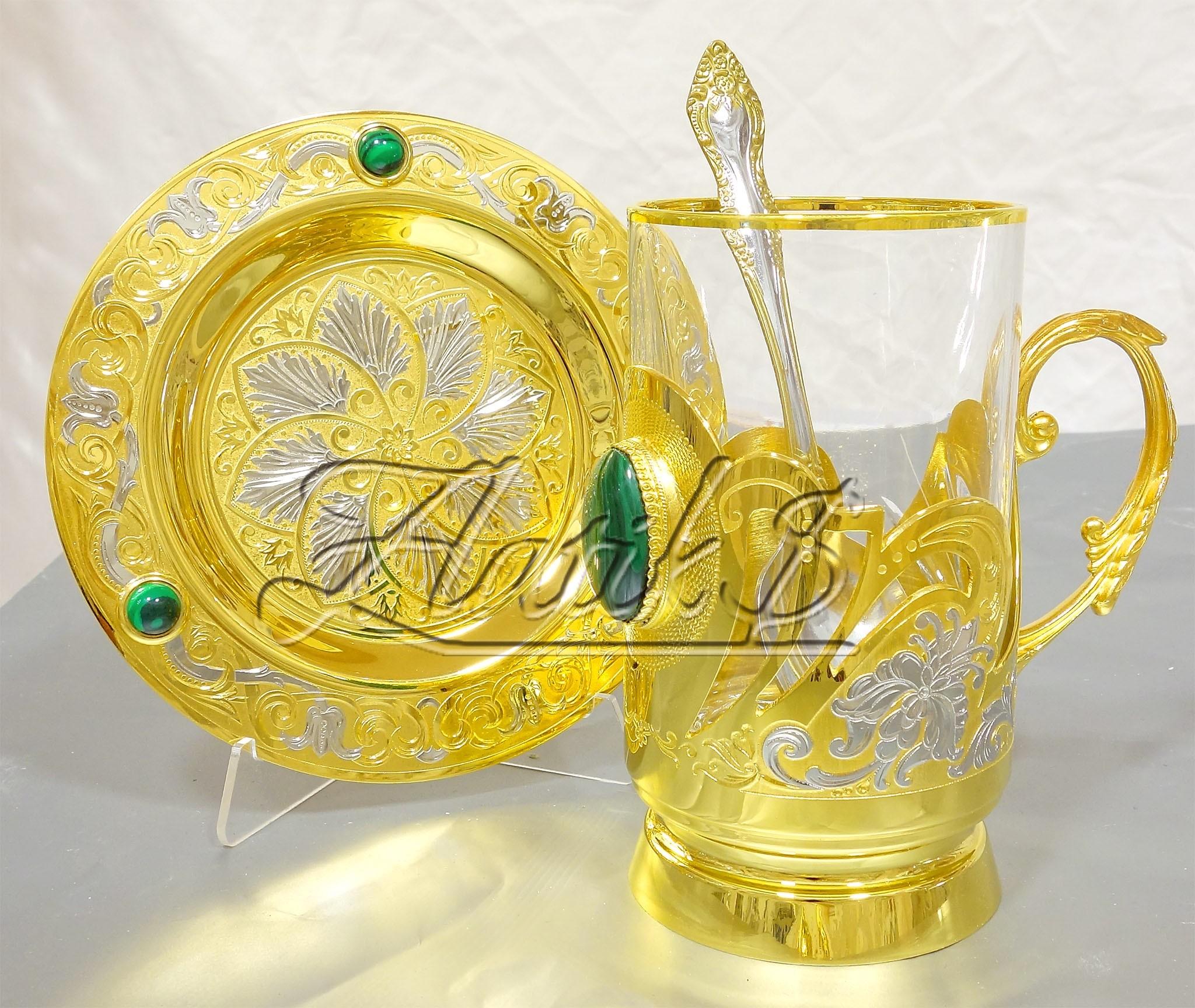 Набор чайный Малахит