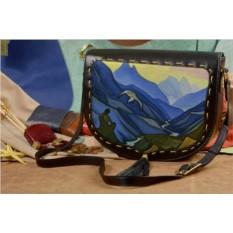 Женская сумка-седло с принтом Elole Design Горы Рериха