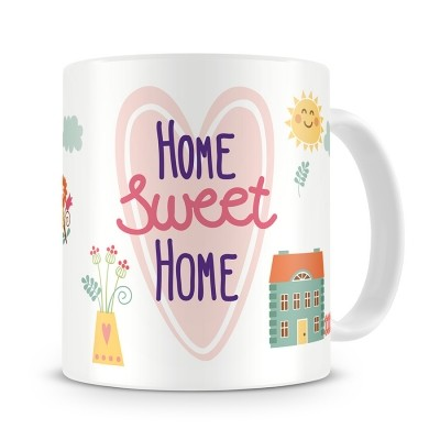Кружка Home sweet home, с рисунками