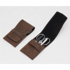 Маникюрный набор Dovo из 3 предметов (цвет — коричневый)