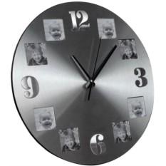 Алюминиевые часы с квадратными фоторамками Гирос