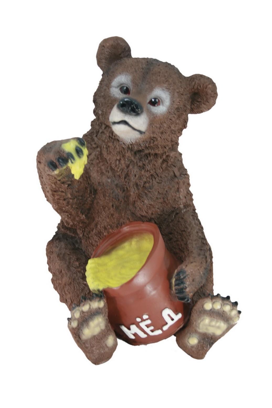 Садовая фигура Медведь с мёдом