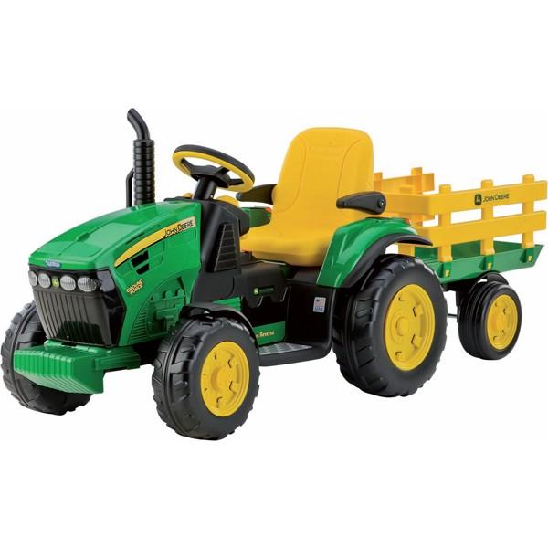 Детский электромобиль Peg-Perego JD Ground Force w/trailer