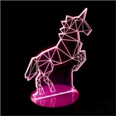 3D лампа Единорог