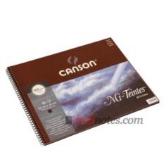 Альбом на спирали с черной бумагой Canson