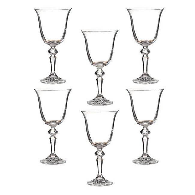Набор 6 бокалов для вина 220 мл Crystalite bohemia Лаура
