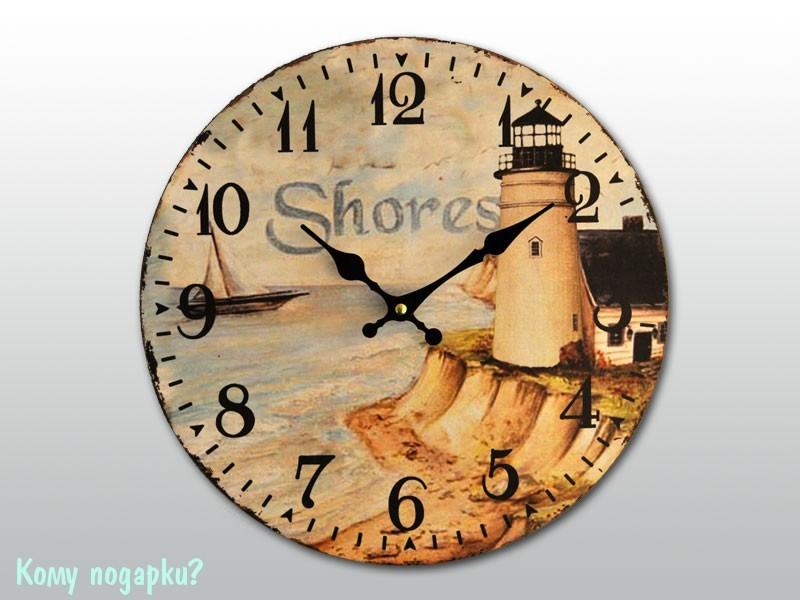 Часы настенные с рисунком «Маяк»