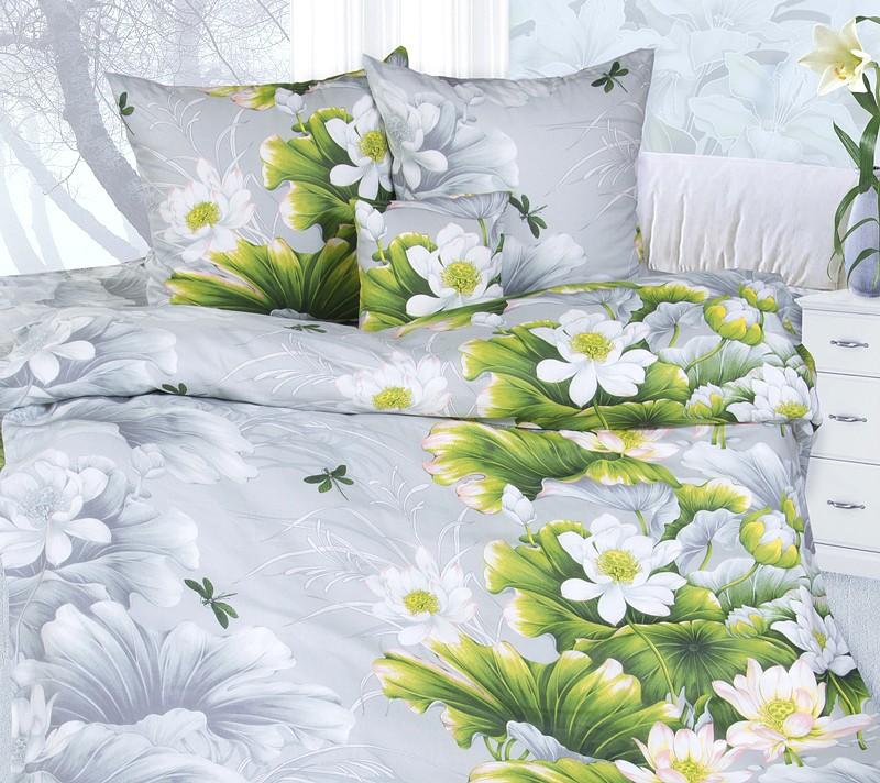 Комплект постельного белья Безмятежность серый (бязь)