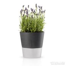 Серый горшок для растений с функцией самополива 20 см