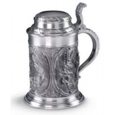 Кружка для пива из олова Jagersleut