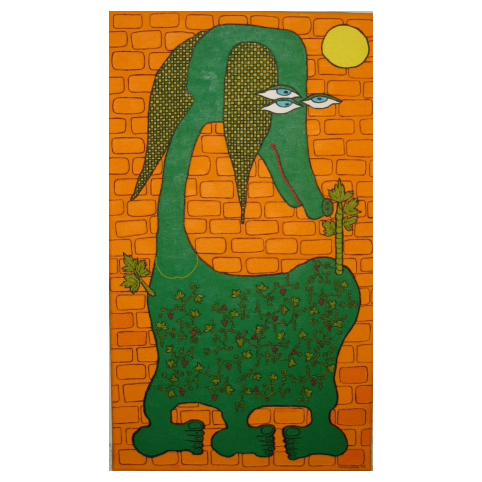 Картина «Зеленая собака днем»