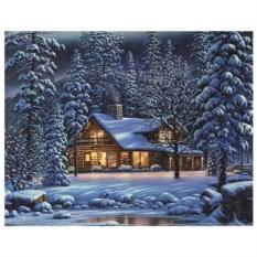 Картина по номерам на холсте Зимний вечер