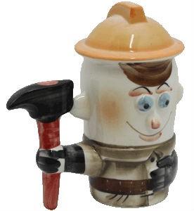 Подарочная кружка с крышкой Пожарный