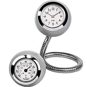 Часы и термометр на гибком шнуре
