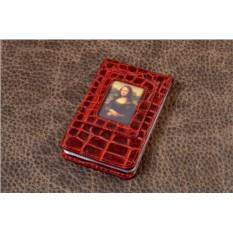 Визитница карманная из кожи Elole Design Art (красная)