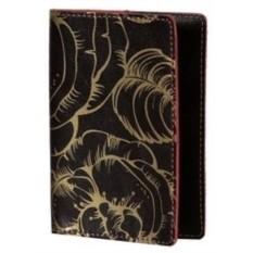 Обложка для паспорта кожаная Узорчатая