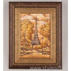 Панно-гравюра Эйфелева башня