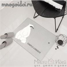 Антискользящий коврик Белый мишка