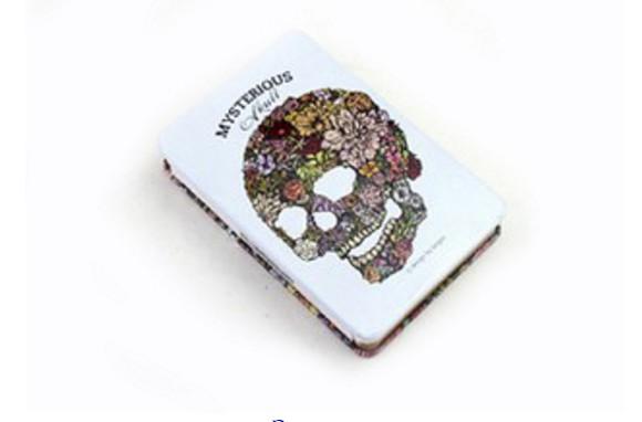 Креативбук с жестяной обложкой Mysterious Skull
