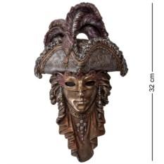 Венецианская маска Треуголка (цвет — бронзовый)