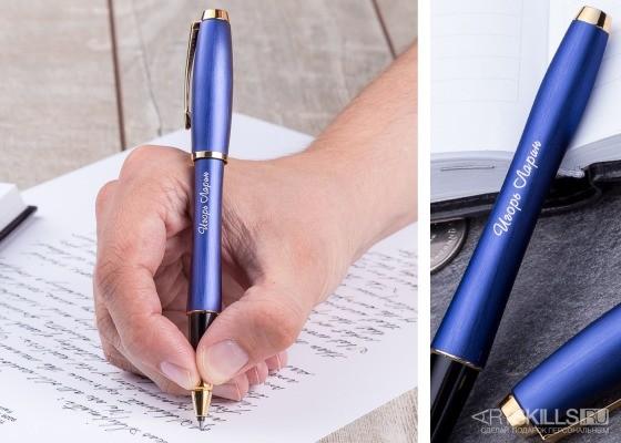 Ручка Parker Purple Blue с гравировкой
