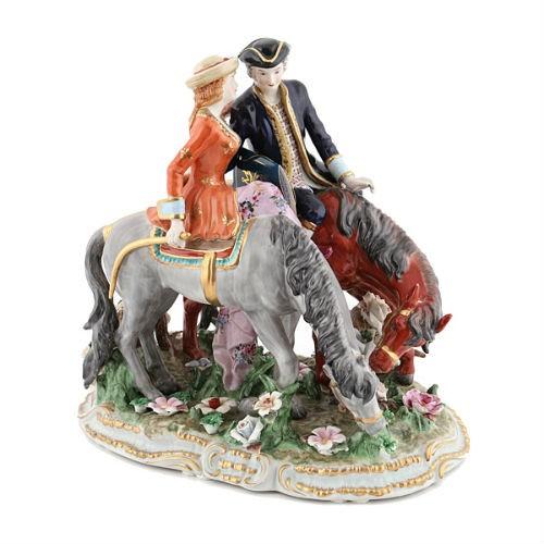 Статуэтка Прогулка на лошадях