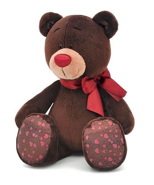 Мягкая игрушка Медведь-мальчик Choc, сидячий, 30 см, Orange Toys